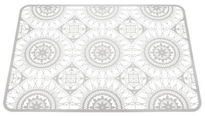 Tavola - Sottopiatti - Set da tavolo Italic Lace / 45 x 32 cm - Sottopiatto - Driade Kosmo - Bianco - Ottone