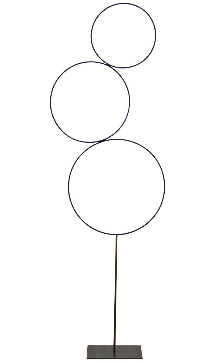Leuchten - Stehleuchten - Sorry Giotto Stehleuchte LED / H 220 cm - Catellani & Smith - Nachtblau - Kupfer
