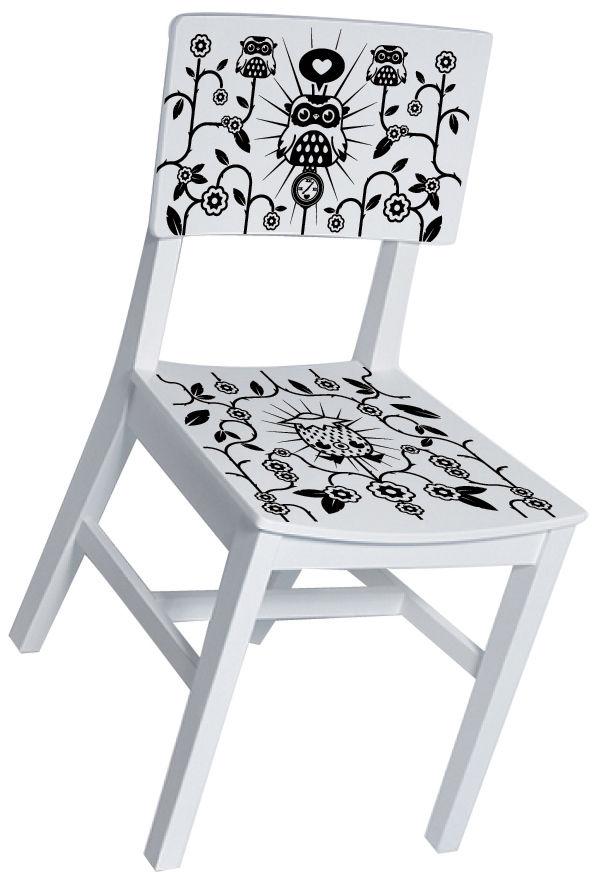 Déco - Stickers, papiers peints & posters - Sticker de meuble Par Tado / Pour chaise - Domestic - Noir / Par Tado - Vinyle