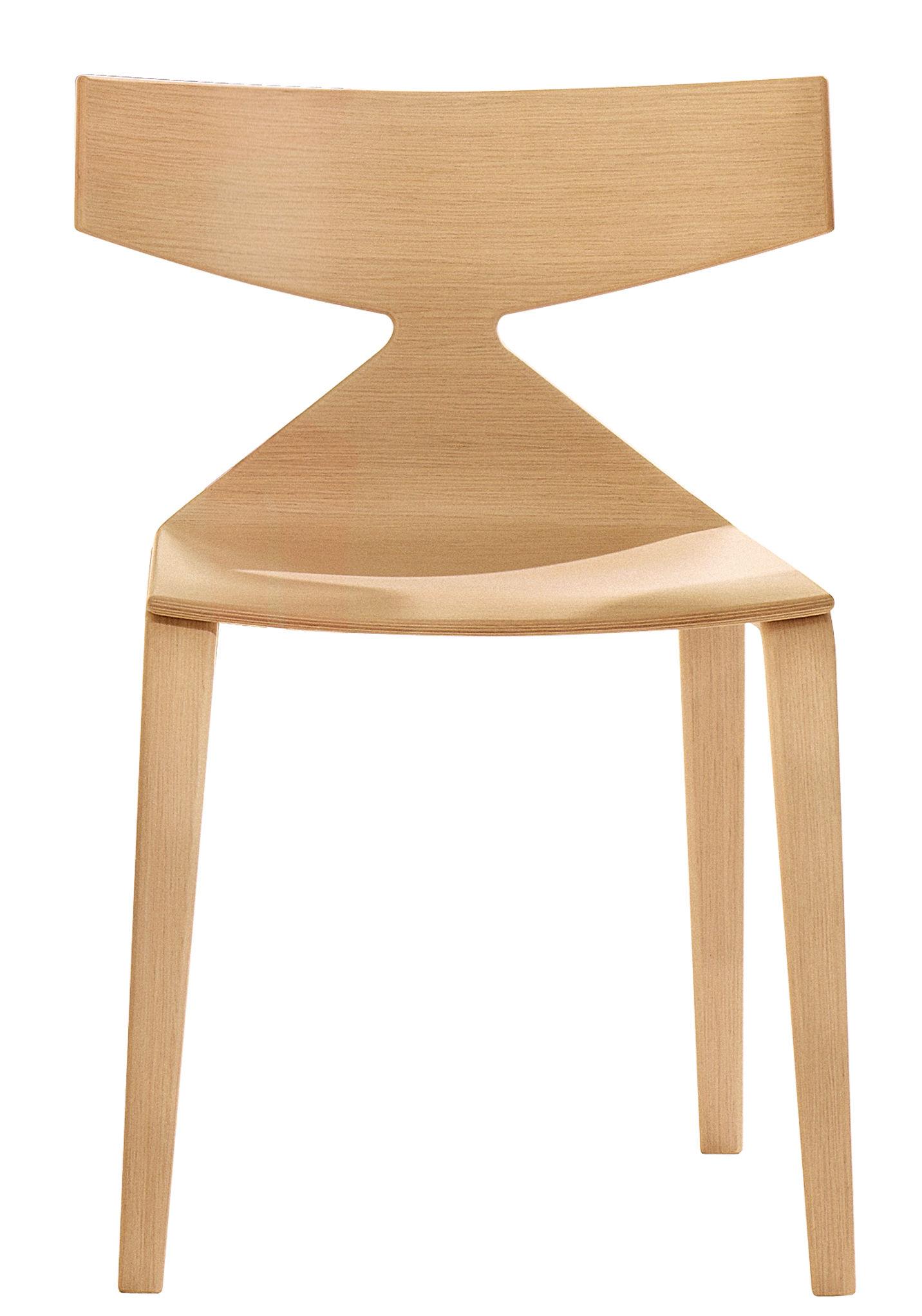 Möbel - Stühle  - Saya Stuhl - Arper - Bois clair - Contreplaqué de bois