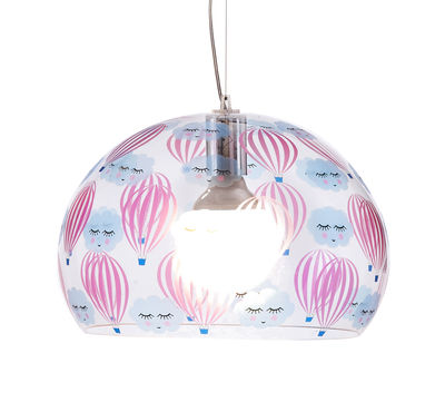 Déco - Pour les enfants - Suspension FL/Y KIDS / Small - Ø 38 cm - Kartell - Transparent / Ballons - PMMA