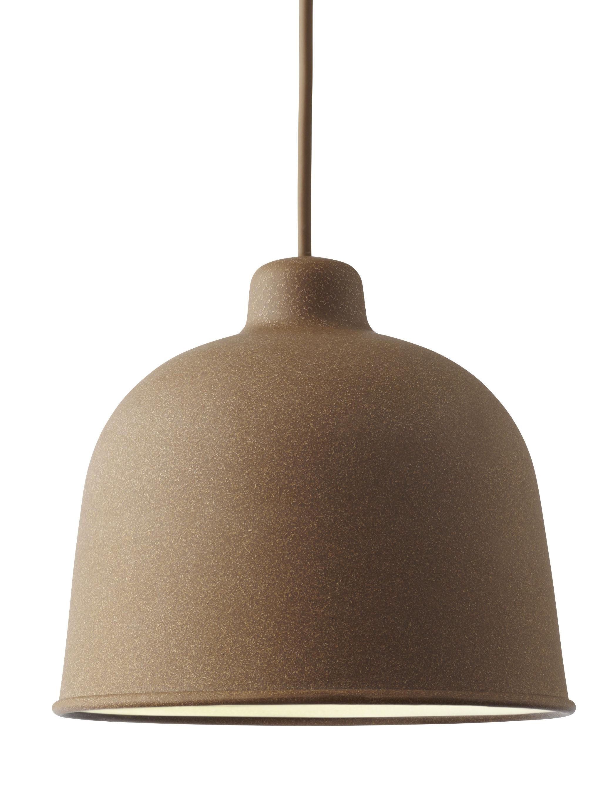 Luminaire - Suspensions - Suspension Grain / Ø 21 cm - Muuto - Naturel - Matériau composite