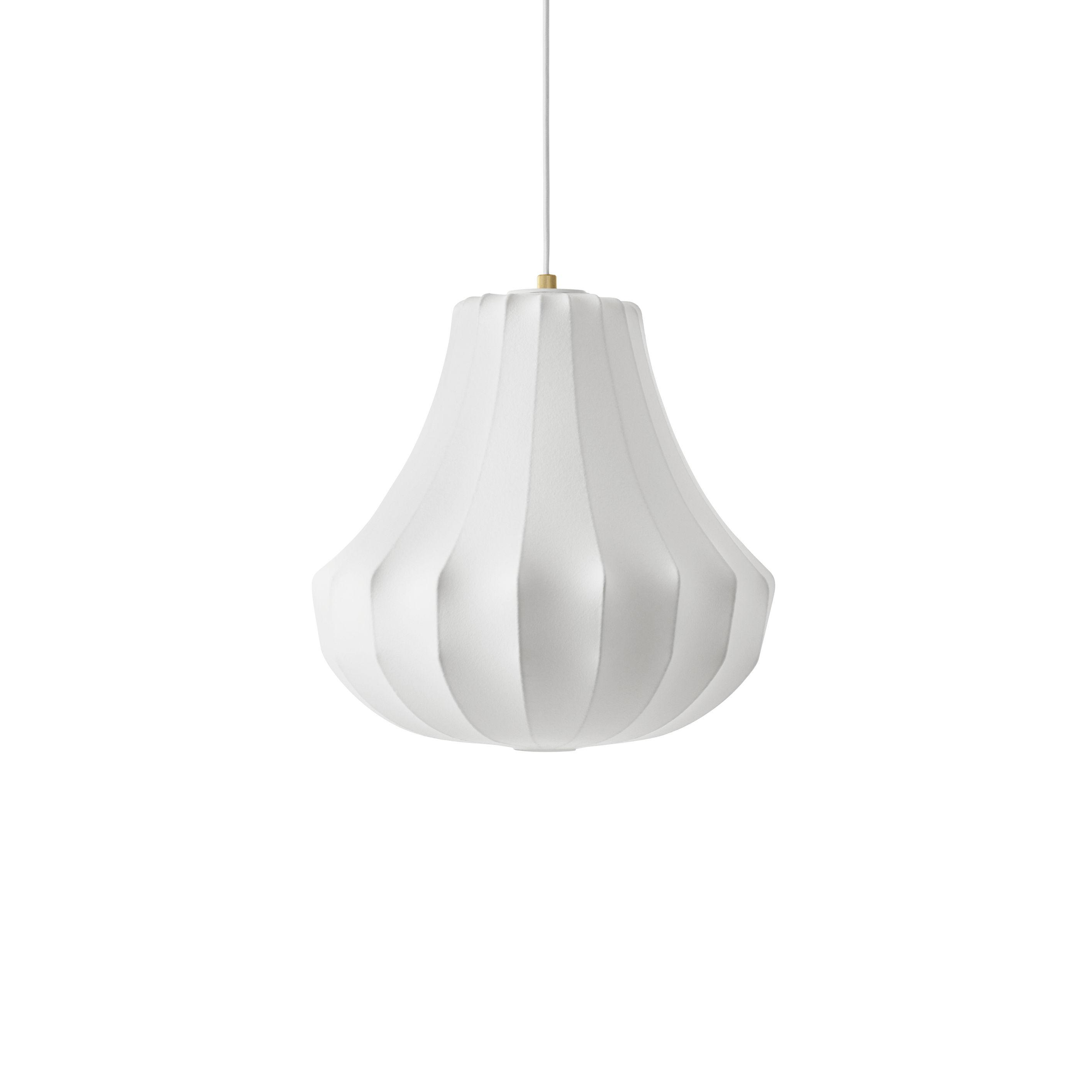 Luminaire - Suspensions - Suspension Phantom Small / Ø 45 x H 47 cm - Résine cocon - Normann Copenhagen - Blanc - Acier, Résine cocon