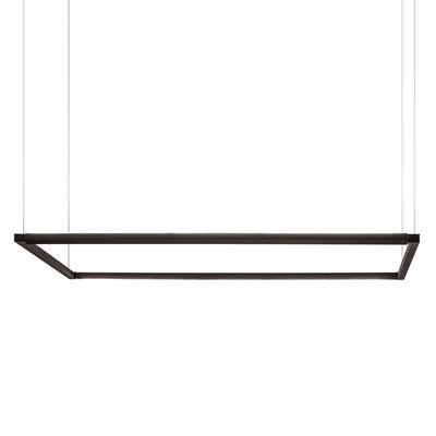 Luminaire - Suspensions - Suspension Spigolo Horizontal LED / 114 x 58 cm - Lumière orientable - Nemo - Noir - Aluminium extrudé