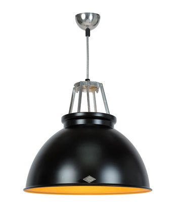 Luminaire - Suspensions - Suspension Titan 3 / Métal - Ø 45,5 x H 42 cm - Original BTC - Noir / Intérieur bronze - Aluminium
