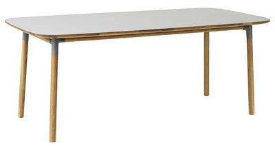 Table Form / 95 x 200 cm - Normann Copenhagen gris,chêne en matière plastique