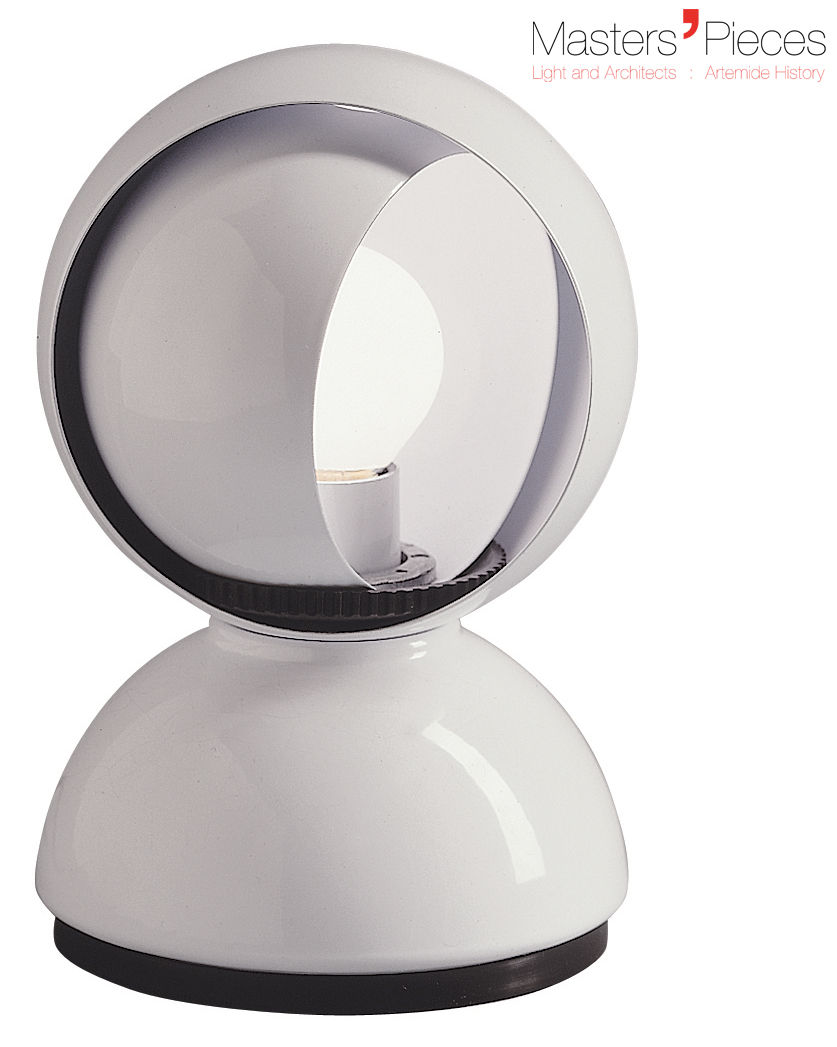 Lighting - Table Lamps - Masters' Pieces - Eclisse Table lamp by Artemide - White - Varnished metal