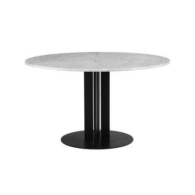 Table ronde Scala / Ø 130 cm - Marbre blanc - Normann Copenhagen blanc en pierre
