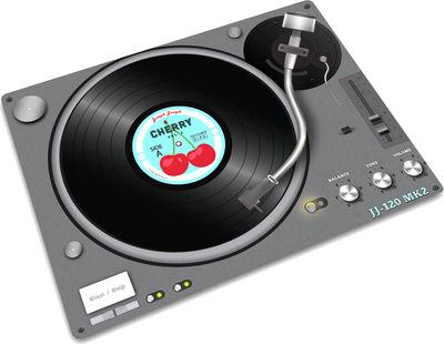 Cucina - Pratici e intelligenti - Tagliere Record player - / sottopentola, vassoio di Joseph Joseph - Motivo mixer - Gomma, Vetro