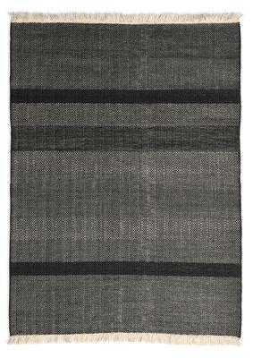 Interni - Tappeti - Tappeto Tres Texture - / 170 x 240 cm di Nanimarquina - Nero - Feltro, Lana di Nuova Zelanda