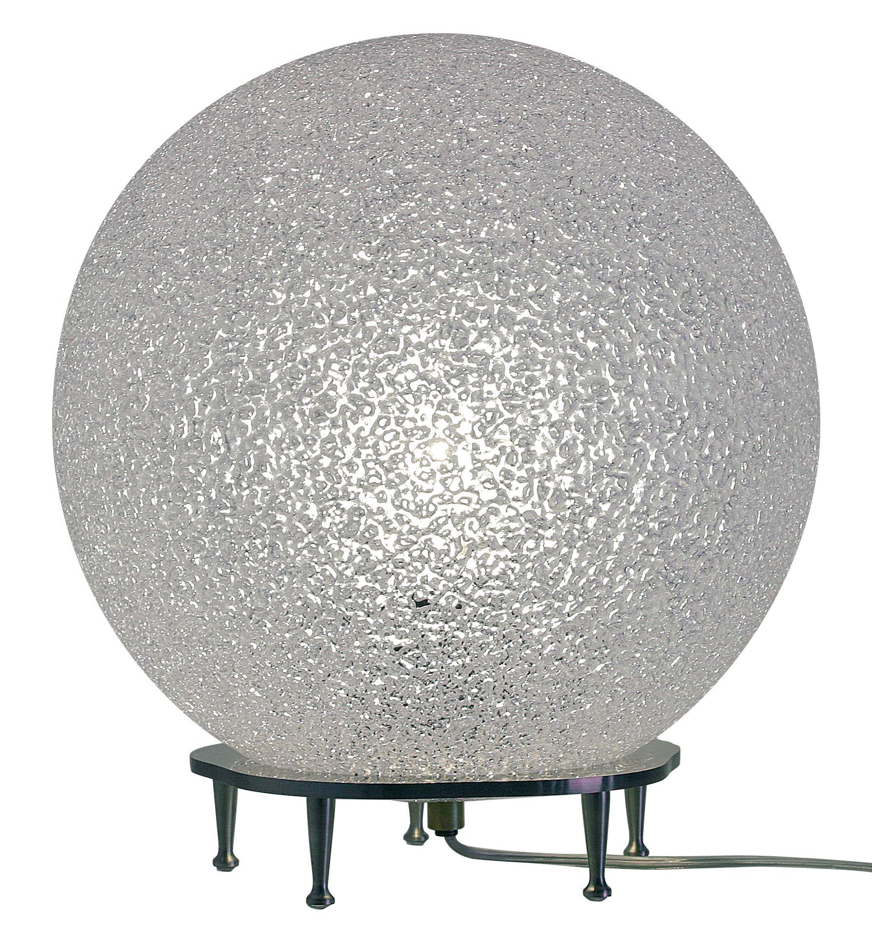 Leuchten - Tischleuchten - IceGlobe Tischleuchte / Ø 30 cm - Lumen Center Italia - Weiß - Metall, Polykarbonat