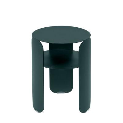 Möbel - Couchtische - Bebop Beistelltisch / Ø 35 x H 45 cm - Fermob - Gewittergrau - bemaltes Aluminium