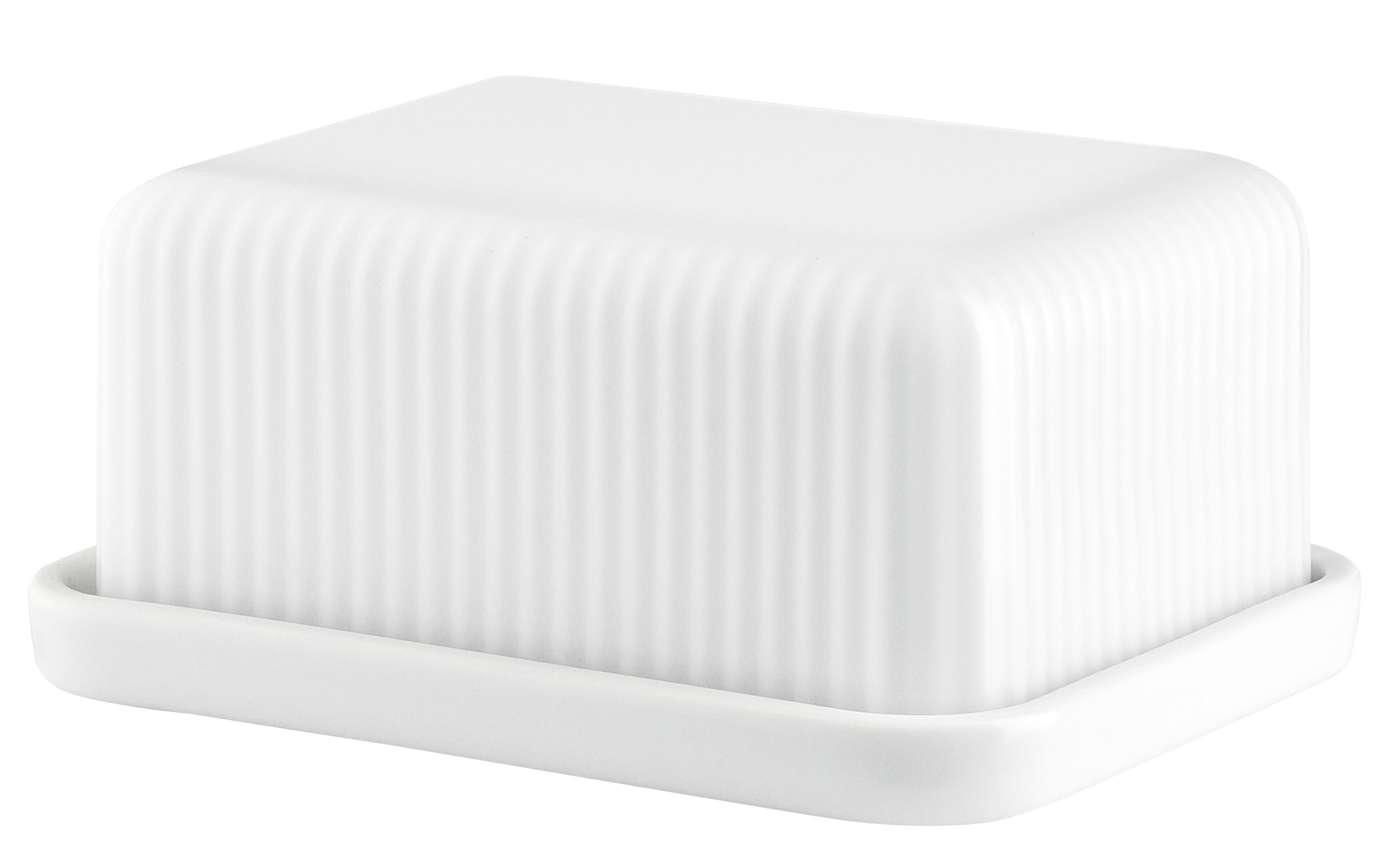 Arts de la table - Accessoires - Beurrier Legio Nova / 12.7 x 10 cm - Eva Trio - Small / Blanc - Porcelaine