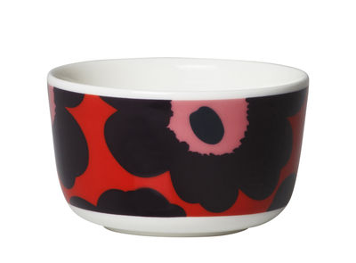 Bol Unikko / Ø 9,5 cm - Marimekko rose,rouge,violet en céramique