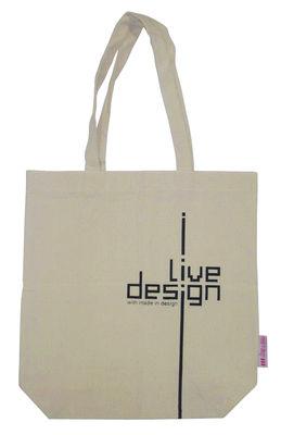 Accessori - Borse, Valigie e Portafogli - Borsa I Live design - / Edizione limitata di Made in design Editions - Beige - Cotone