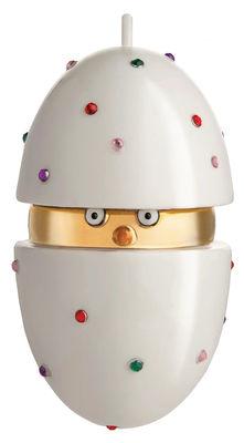 Boule de Noël Fleurs de Jorì / Poussin - Porcelaine peinte main - Alessi multicolore en céramique