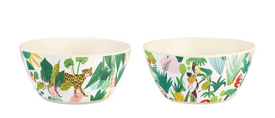 Tableware - Bowls - Bodil Bowl - / Set of 2 - Bamboo by & klevering - Tropical jungle - Bamboo fibre