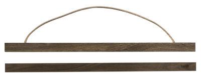 Déco - Objets déco et cadres-photos - Cadre-photo Wooden Large / L 51 cm - Ferm Living - Chêne fumé - Chêne fumé, Cuir