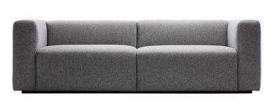 Mobilier - Canapés - Canapé droit Mags / 2 à 3 places - L 228 cm / Tissu steelcuttrio - Hay - Gris clair - Tissu Kvadrat