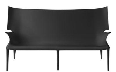 Canapé droit Uncle Jack / L 190 cm - Kartell noir en matière plastique