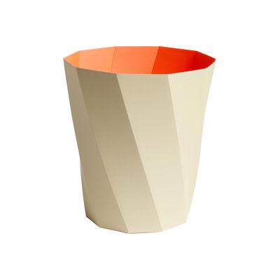 Interni - Cestini - Cestino per la carta Paper Paper - / In carta riciclata - Ø 28 x H 30,5 cm di Hay - Beige / Arancio - Papier recyclé FSC