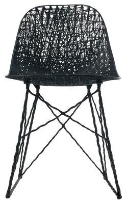 Outdoor - Chaises et fauteuils hauts - Chaise Carbon Outdoor / Fibre de carbone - Moooi - Noir - Fibre de carbone