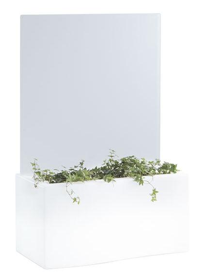 Arredamento - Mobili luminosi - Fioriera luminosa Privé Light - / L 86 cm di Slide - Bianco - Polietilene