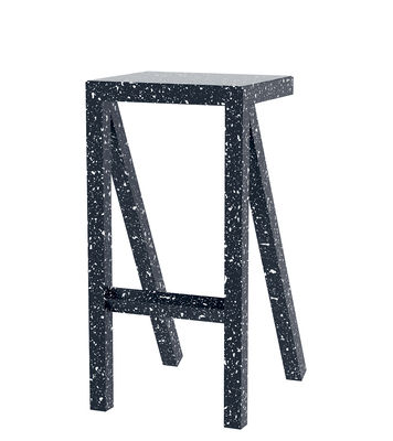Furniture - Bar Stools - Bureaurama High stool - / H 74 cm - Outdoor by Magis - Black & White - Varnished aluminium