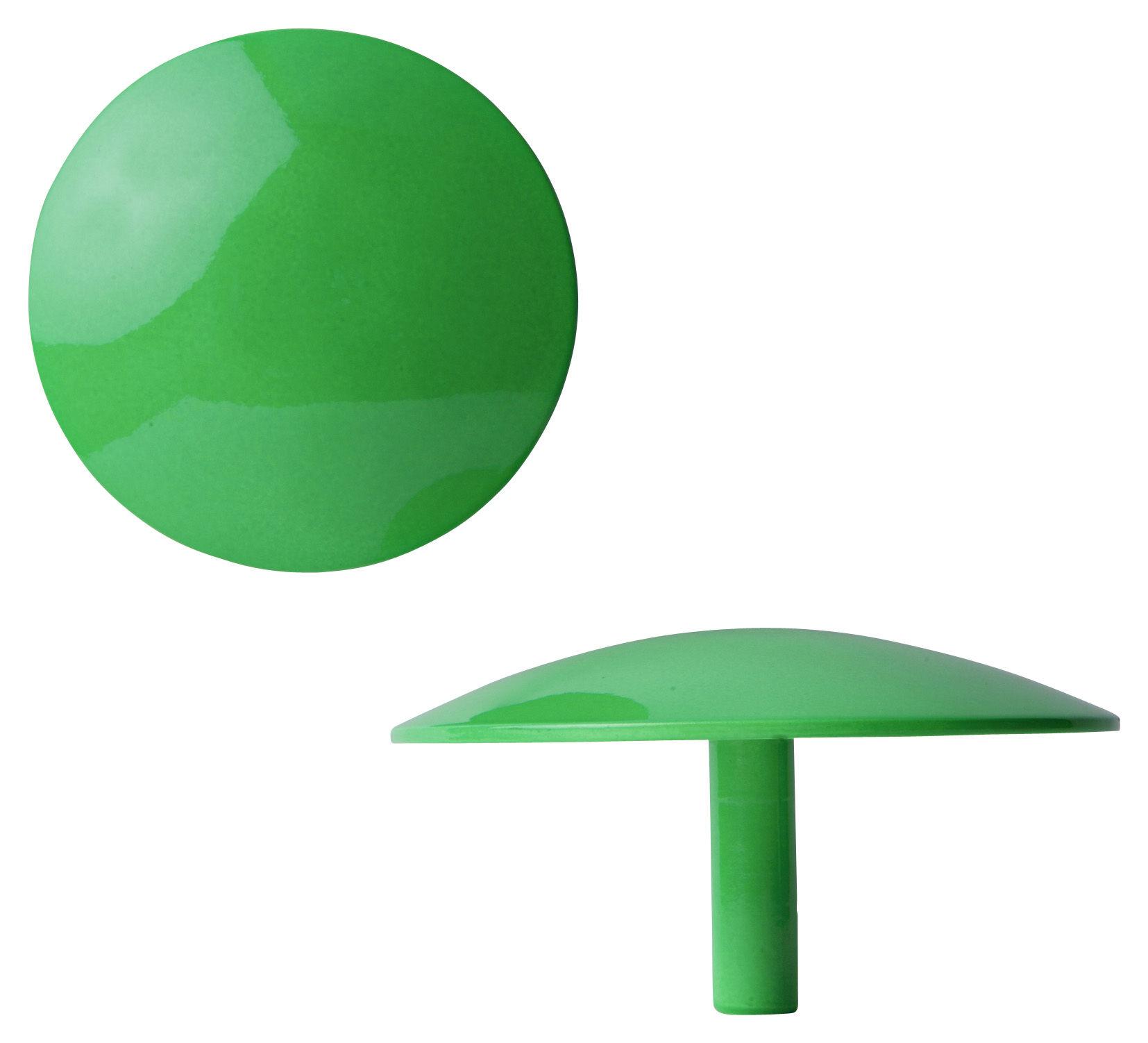 Furniture - Coat Racks & Pegs - Manto Hook - Fluo- Ø 10 cm by Sentou Edition - Green - Ø 10 cm - Lacquered cast aluminium