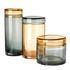 Jar - / Set of 3 - Hand-blown glass by Pols Potten