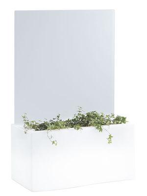 Mobilier - Mobilier lumineux - Jardinière lumineuse Privé Light / L 86 cm - Slide - Blanc - polyéthène recyclable