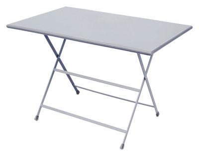 Outdoor - Tische - Arc en Ciel Klapptisch 110 x 70 cm - zusammenklappbar - Emu - Aluminium - klarlackbeschichteter rostfreier Stahl
