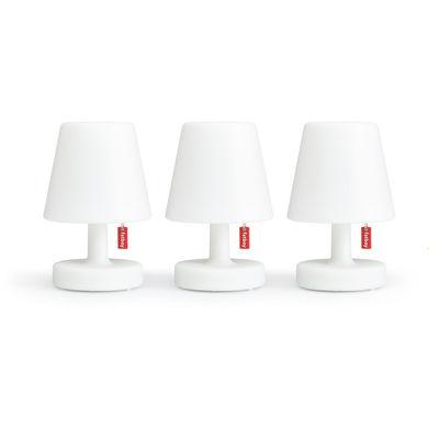 Lampe sans fil Edison the Mini / Set de 3 - Ø 9 x H 15 cm - Fatboy blanc en matière plastique