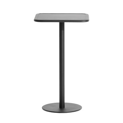 Mobilier - Mange-debout et bars - Mange-debout Week-End / 60 x 60 cm x H 105 cm - Petite Friture - Noir - Aluminium thermolaqué époxy