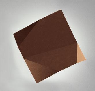 Luminaire - Appliques - Applique d'extérieur Origami LED / Motifs n°1 - Vibia - Marron - Polycarbonate