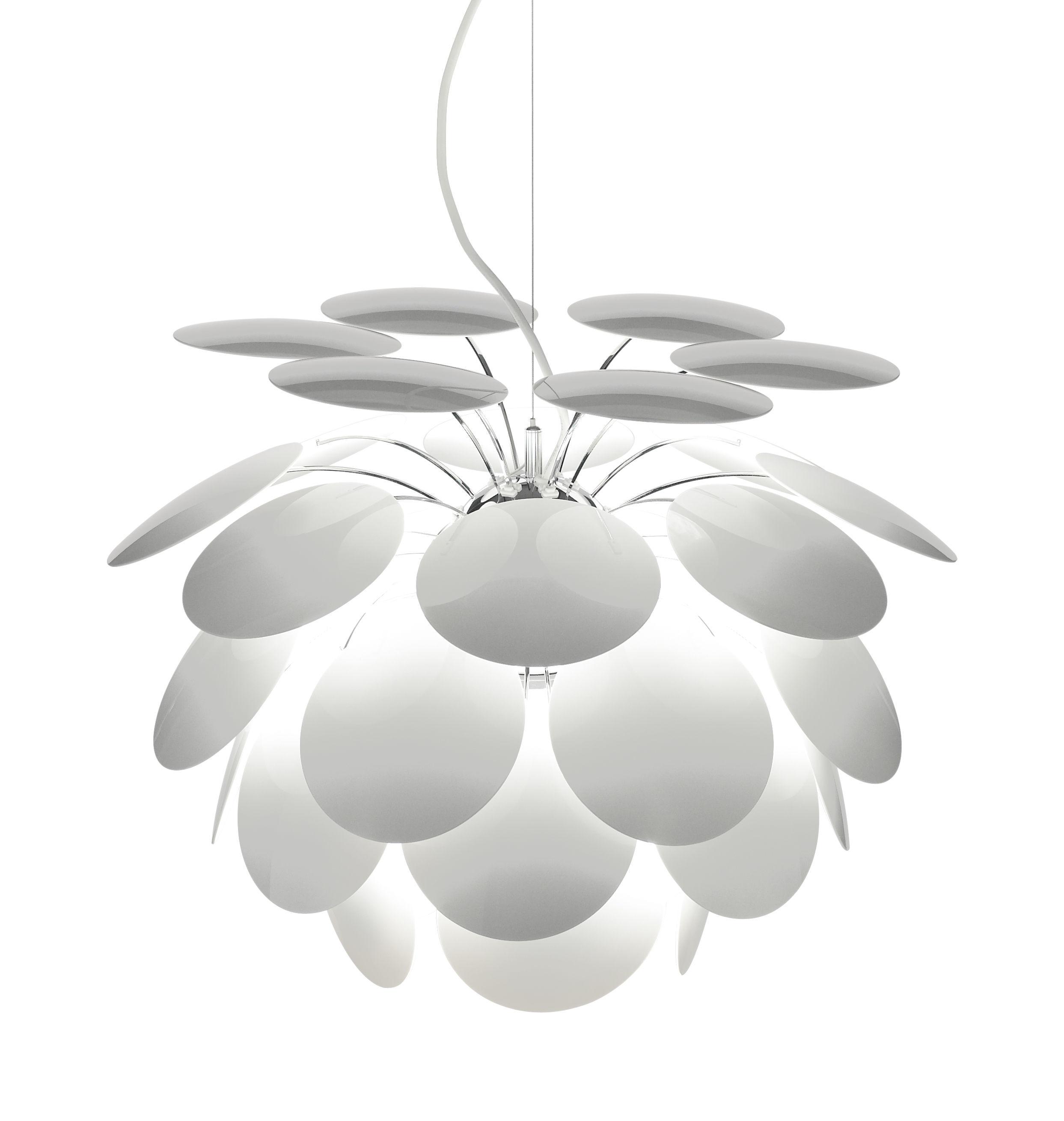 Lighting - Pendant Lighting - Discocó Pendant - Ø 35 cm by Marset - White - ABS