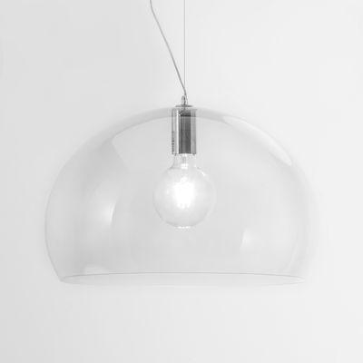 Leuchten - Pendelleuchten - FL/Y Small Pendelleuchte Größe S / Ø 38 cm - Kartell - Transparent (farblos) - PMMA teinté dans la masse