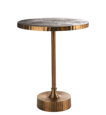 Furniture - Dining Tables - Mace Round table - / Ø 61 x H 76 cm by Pols Potten - Antique brass - Antique brass-plated aluminium