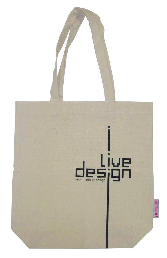 Accessoires - Sacs, trousses, porte-monnaie... - Sac I Live design / Edition limitée - Made in design Editions - Beige - Coton