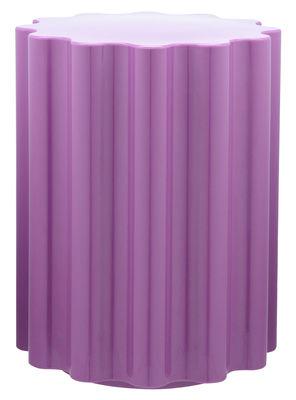 Arredamento - Sgabelli - Sgabello Colonna / H 46 x Ø 34,5 cm - By Ettore Sottsass - Kartell - Viola - Tecnopolimero termoplastico colorato in massa