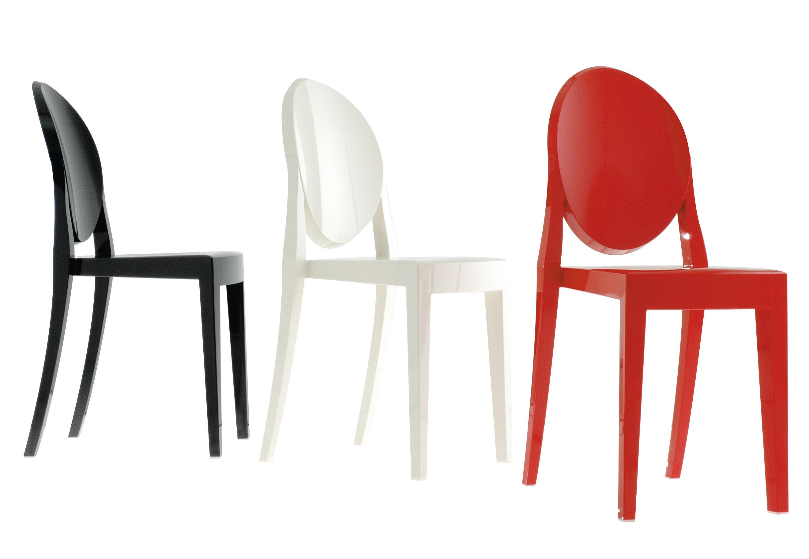 Victoria Ghost Stapelbarer Stuhl Opak-Ausführung - Kartell