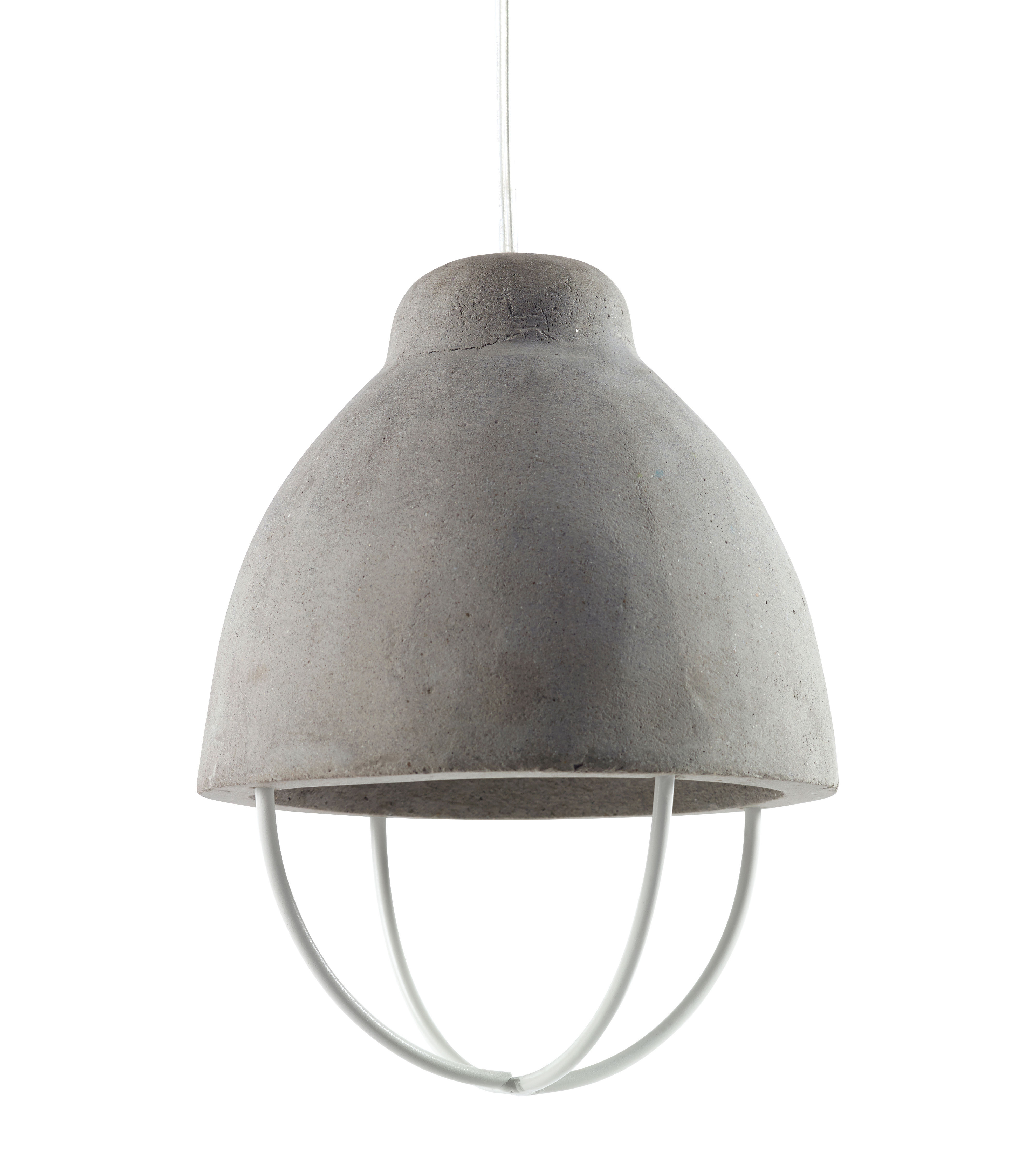 Luminaire - Suspensions - Suspension Feeling / Béton & métal - Serax - Béton gris / Métal blanc - Béton brut, Métal peint