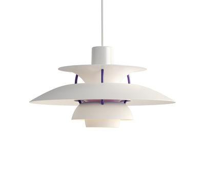 Suspension PH 5 Mini / Ø 30 cm - Louis Poulsen blanc classique en métal