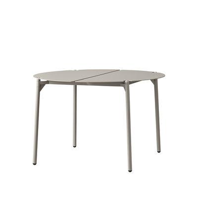 Mobilier - Tables basses - Table basse Novo / Ø 70 x H 45 cm - Métal - AYTM - Taupe - Acier revêtement poudre, Aluminium revêtement poudre
