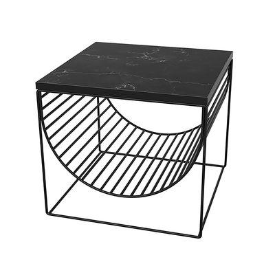 Table d'appoint Sino / Porte revues - Marbre - AYTM noir en pierre