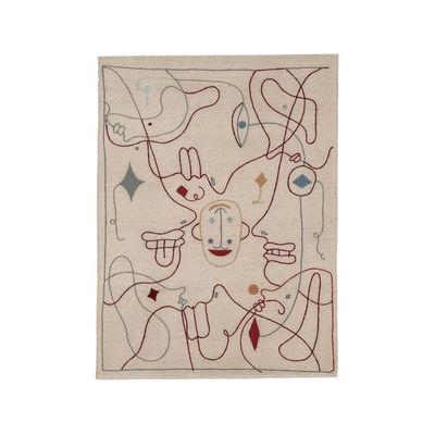 Interni - Tappeti - Tappeto Silhouette - / By Jaime Hayon - 120 x 150 cm / Lana di Nanimarquina - 120 x 150 cm / Beige & multicolore - Lana