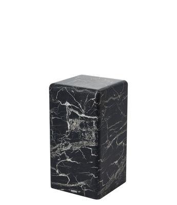 Arredamento - Tavolini  - Tavolino d'appoggio Marble look Small - / H 61 cm - Effetto marmo di Pols Potten - Nero - MDF, Resina