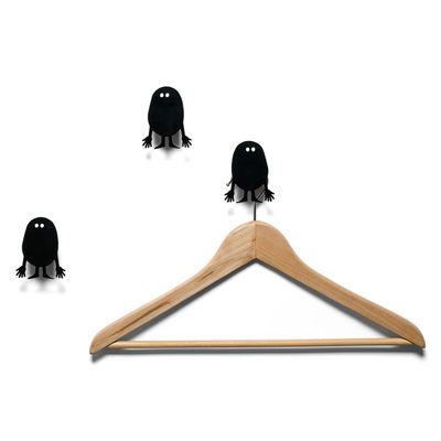 Möbel - Garderoben und Kleiderhaken - Potatoes Wandhaken 3 Stück - Domestic - Schwarz - lackiertes Aluminium