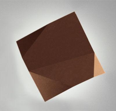 Origami Wandleuchte - Vibia - Braun