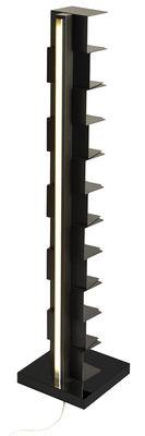 Möbel - Regale und Bücherregale - Ptolomeo Luce Beleuchtetes Bücherregal / LED - H 160 cm - Opinion Ciatti - Schwarz - lackierter Stahl